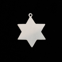 Sterling Silver 6 Point Star, 24g