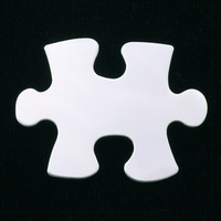 Sterling Silver Puzzle Piece, 24g