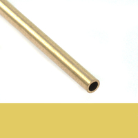 "Brass 3/32"" Rivet Tube, 1 Ft Long"