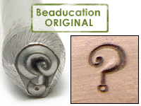 Question Mark Design Stamp - Beaducation Original