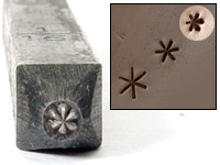 "Asterisk Design Stamp - 1/16"" (1.6mm)"