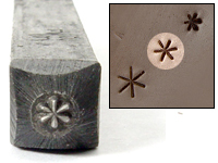 "Asterisk Design Stamp - 3/32"" (2.4mm)"