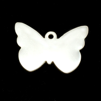 Sterling Silver Butterfly with Hole, 24g