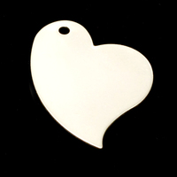 Sterling Stylized Heart with Hole, 24g