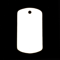 Sterling Silver Large Dog Tag (no notch), 20g