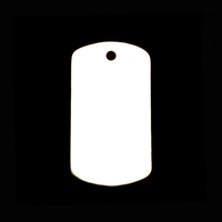 Sterling Silver Medium Dog Tag (no notch), 20g