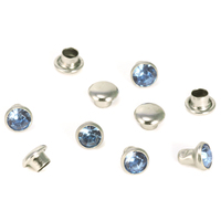 "Crystal 5/32"" Snap Rivets, Light Blue 5mm, 5 pk"