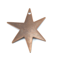 Antiqued Brass Asymmetric Star with Hole, 26g