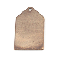 Antiqued Brass Luggage Tag with Hole, 24g