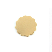 Brass Medium 12 Petal Flower, 24 gauge
