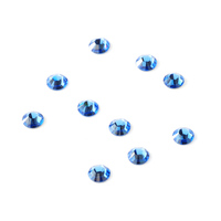 2.6mm Swarovski Flat Back Crystals, Sapphire (10pk)