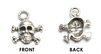 Sterling Silver Small Skull and Crossbones Charm