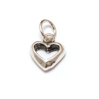 Sterling Silver Chunky Open Heart Charm