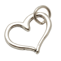 Sterling Silver Heart Outline Charm