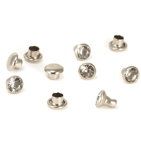 "Crystal 5/32"" Snap Rivets, Clear 5mm, 5 pk"