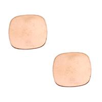 Copper Rounded Square, 18g