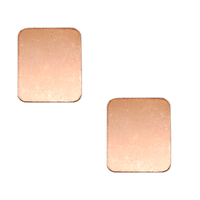 Copper Rounded Rectangle, 18g