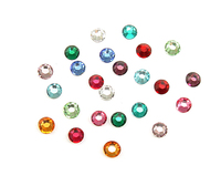 2.6mm Swarovski Flat Back Crystals, Multi Colored (24pk)