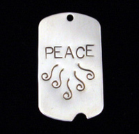 Sterling Silver Large Notched Dog Tag, 24g