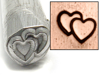 Double Heart Design Stamp