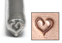 Stylized Heart Design Stamp