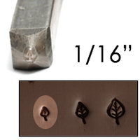 "Elm Leaf Design Stamp 1/16"" (1.6mm)"