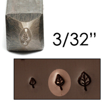 "Elm Leaf Design Stamp 3/32"" (2.4mm)"