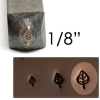 "Elm Leaf Design Stamp 1/8"" (3.2mm)"