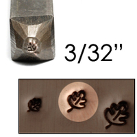 "Oak Leaf Design Stamp 3/32"" (2.4mm)"