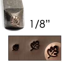 "Oak Leaf Design Stamp 1/8"" (3.2mm)"