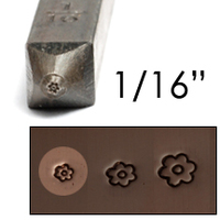 "Basic Flower Face Design Stamp 1/16"" (1.6mm)"