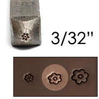 "Basic Flower Face Design Stamp 3/32"" (2.4mm)"