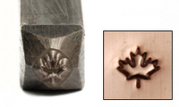 "Maple Leaf Design Stamp 1/8"" (3.2mm)"