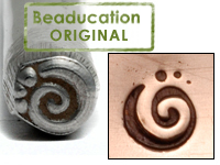 Spiral 3 Dots Design Stamp - Beaducation Original