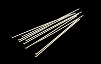 "Sterling Silver Head Pins 1 1/2"" (38mm) 24 gauge pack of 10"