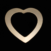 Gold Filled Large Heart Washer, 24g