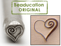Heart Spiral Design Stamp (4.5mm) - Beaducation Original