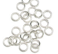 Sterling Silver 4mm I.D. 18 Gauge Jump Rings, pack of 50