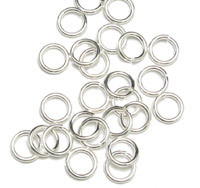 Sterling Silver 3.5mm I.D. 18 Gauge Jump Rings, pack of 50