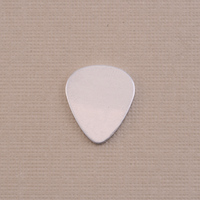 "Aluminum Small ""Guitar Pick"" Blank, 24g"