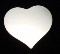 Sterling Silver Large Puffy Heart, 20g