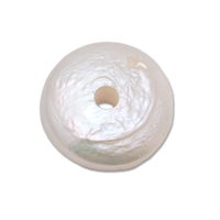 Pearl with 14 Gauge Hole, White