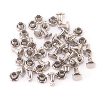 "Nickel Plated 3/32"" Snap Rivets, 50 pk"