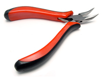 German Bent Chain Nose Pliers With Ergonomic Handle