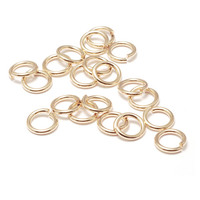 Gold Filled 6mm I.D. 18 Gauge Jump Rings, pack of 20