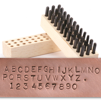 "USA Made Block Uppercase Letter & Number Stamp Set 1/8"" (3.2mm)"