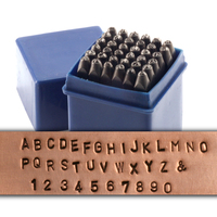 "Economy Block Uppercase Letter & Number Stamp Set 1/16"" (1.6mm)"