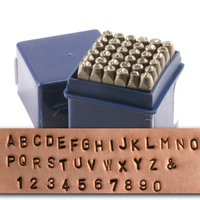 "Economy Block Uppercase Letter & Number Stamp Set 1/8"" (3.2mm)"