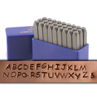"Basic Uppercase Letter Stamp Set 1/8"" (3.2mm)"