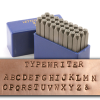 "Typewriter Uppercase Letter Stamp Set 1/8"" (3.2mm)"